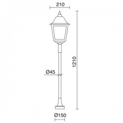 Lampioncini da giardino ROB IP43 70W E27 Bianco Vetro Opaco