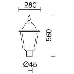Boccia Lampioni ROB IP43 70W E27 Nero Vetro Opaco