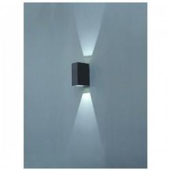 Applique da esterno parete UFO IP54 LED 2x1W grigio