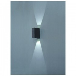 Applique da esterno parete UFO IP54 LED 2x1W Antracite