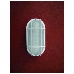 Applique da esterno COBAN griglia IP44 E27 Bianco