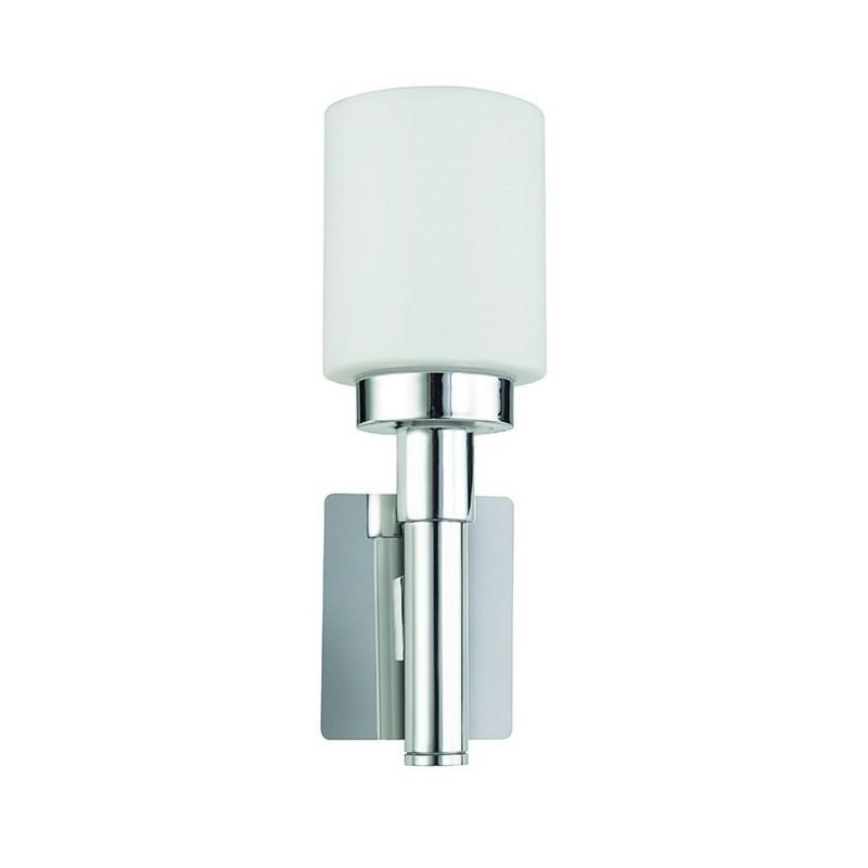 Applique bagno VEL IP44 E14 cromo / vetro