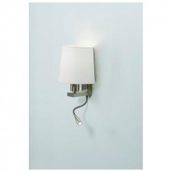 Applique FIRENZE E27 23W+LED 3W 2 interruttori nichel satinato
