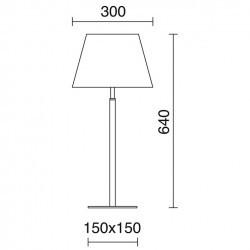 Lampada da tavolo FIRENZE IP20 E27 nichel satinato