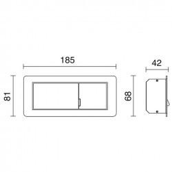 Applique LESING destra IP20 LED 3W 240lm 3000K