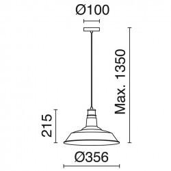 Lampada a sospensione ANTIQ E27 nero ø 36