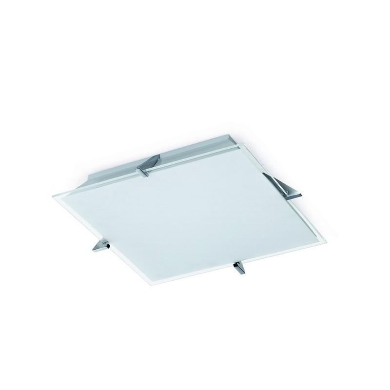 Applique parete CLEAR  T5 32W cromo / vetro