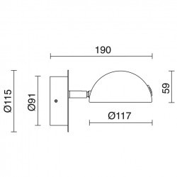 Applique LED DIDEN 1x4W 3000K Grigio