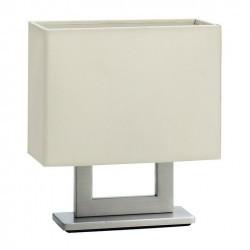 Lampada da tavolo  portátil GINA E14 nichel satinato