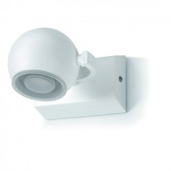 Applique bagno MOON LED 1x5W cromo / vetro