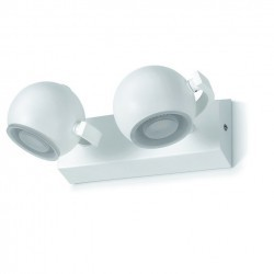 Applique bagno MOON LED 2x5W cromo / vetro