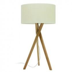 Lampada da tavolo WOOD E27 legno chiaro