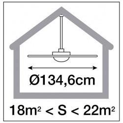 Ventilatore da soffitto con luce VENTO LED 1x17W 3000K legno de haya