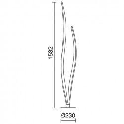 Lampada Piantana FOC IP20 LED 28,6W 2000lm nichel satinato 3000K