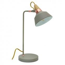 Lampada da tavolo CLOÉ IP20 E27 Grigio pietra