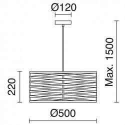 Lampada a sospensione SIRA IP20 E27 Rame