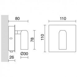 Applique DORÉS IP20 LED 6W 400lm cromo 3000K