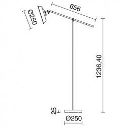 Lampada Piantana OMA IP20 E27 ruggine