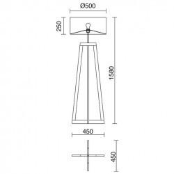 Lampada Piantana KARA IP20 E27 legno