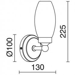 Applique BATH IP44 E14 oro opaco