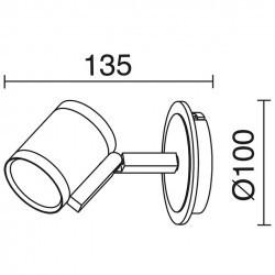 Applique ELKE IP20 GU10 cromo nero