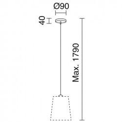 Lampada a sospensione A TU ESTILO IP20 E27 cromo+Grigio