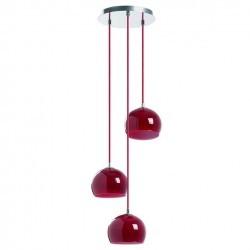 Lampada a sospensione ESTIKLA IP20 3xE14 vetro rosso