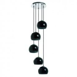 Lampada a sospensione  ESTIKLA IP20 5xE14 vetro nero