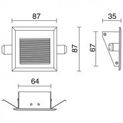 Lampada a incasso WINDOW2 IP44 LED3W 160lm Bianco 3000K
