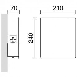 Applique BALTIC IP20 E27 Bianco