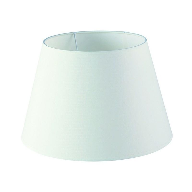 Paralume per Lampada conico ø30cm cotone  Bianco