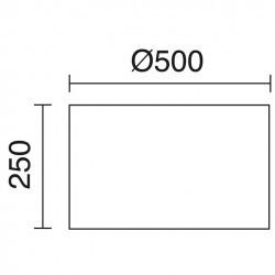 Paralume per Lampada bianca Ø50