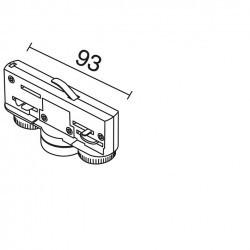 Adattatore binario elettromeccanico 6A 10Kg nero