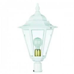 Boccia per Lampioni 1L. ELITE 6 IP43 E27 Opaco Bianco