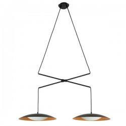 Lampada doppia a sospensione estensibile SLIM LED 2X15W bianco