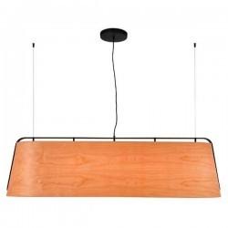 Lampada a sospensione STOOD 5XE27 nero + legno