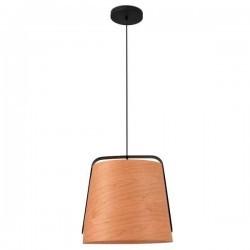 Lampada a sospensione STOOD E27 nero + legno