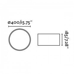Plafoniera SEVEN Ø40 LED 20W Dimmer + telecomando, bianco