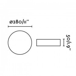 Plafoniera LED ZON 18W 1600lm 3000K Dimmer, bianco