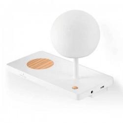 Applique sinistro LED con base di carica a induzione USB NIKO 6W 3000K bianco
