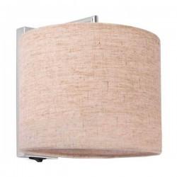 Applique SAHARA 1xE27 60W cromato paralume lino bianco