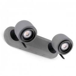 Faretto orientabile STONE-2 8W 2xGU10 grigio