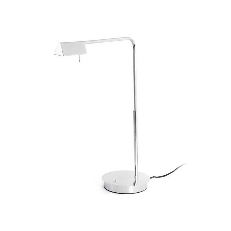 Lampada da tavolo LED ACADEMY 4W 3000K 350lm regolabile cromato