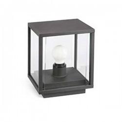Lampioncino da muretto NALA E27, grigio scuro