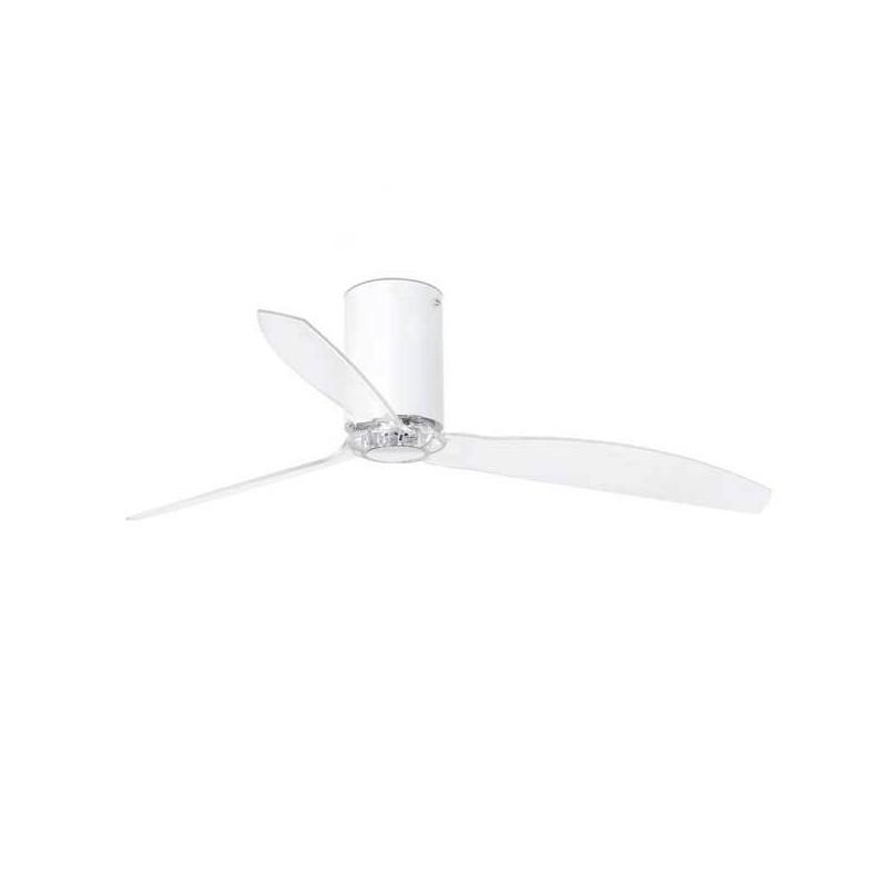 Ventilatore da soffitto Faro MINI TUBE Ø128CM DC bianco opaco + trasparente