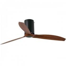 Ventilatore da soffitto Faro MINI TUBE Ø128CM DC nero opaco + legno