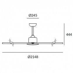 Ventilatore da soffitto grigio metallizzato Leds-C4 HANDIA motore DC