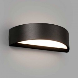Lampada applique LED Faro OVAL nero 10W