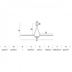 Ventilatore da soffitto Ø128cm Nero opaco FARO Mini Eterfan