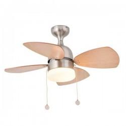 Ventilatore da soffitto con luce FARO Mediterraneo Ø810Mm Nichel Opaco